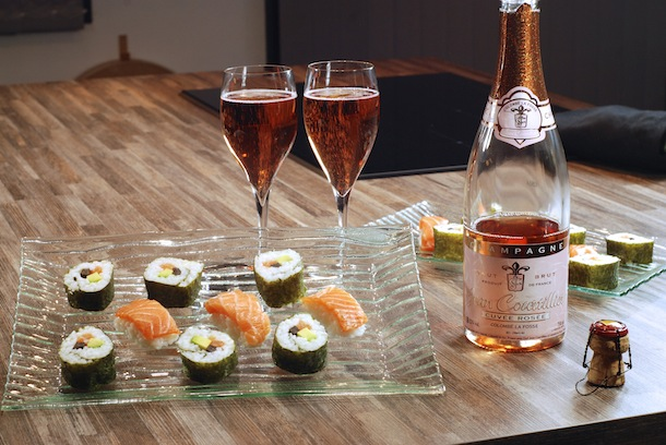 sushi champagne courtillier